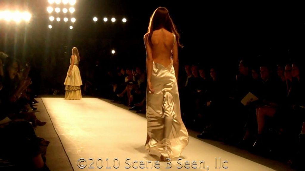 White backless evening gown from Guli Spring/Summer 2011