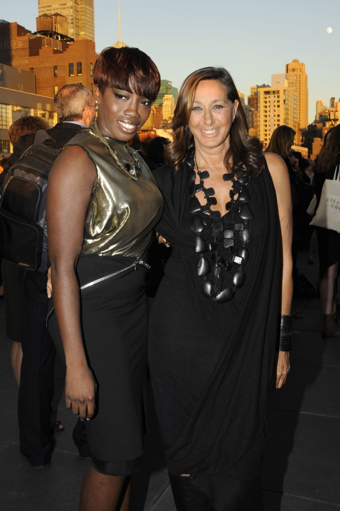 Estelle and Donna Karan
