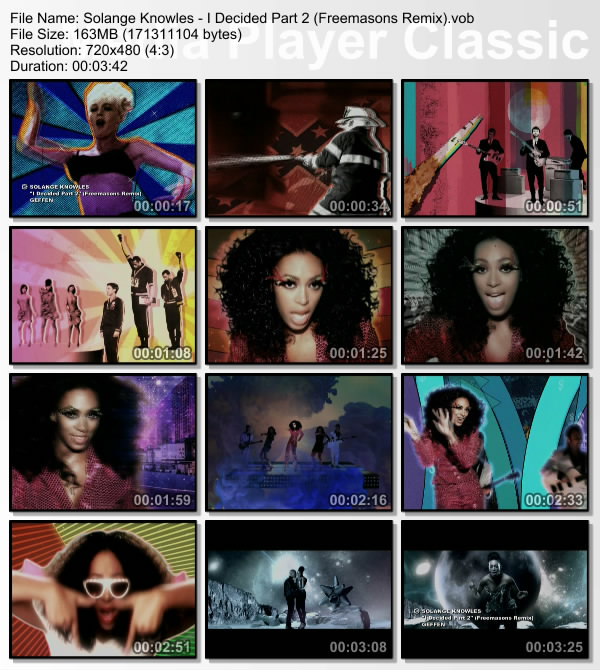Pictures from scenes in Solange's I Decided Video
