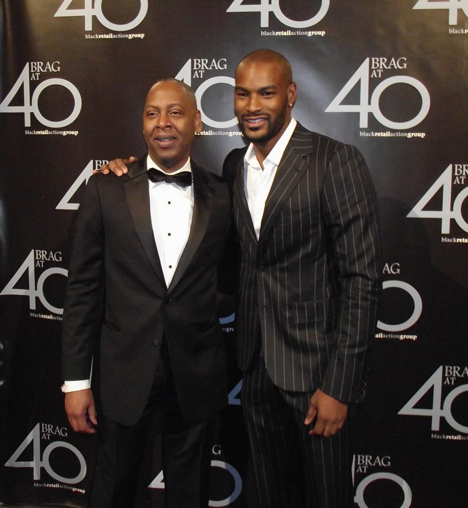 BRAG President Gary L. Lampley and Tyson Beckford