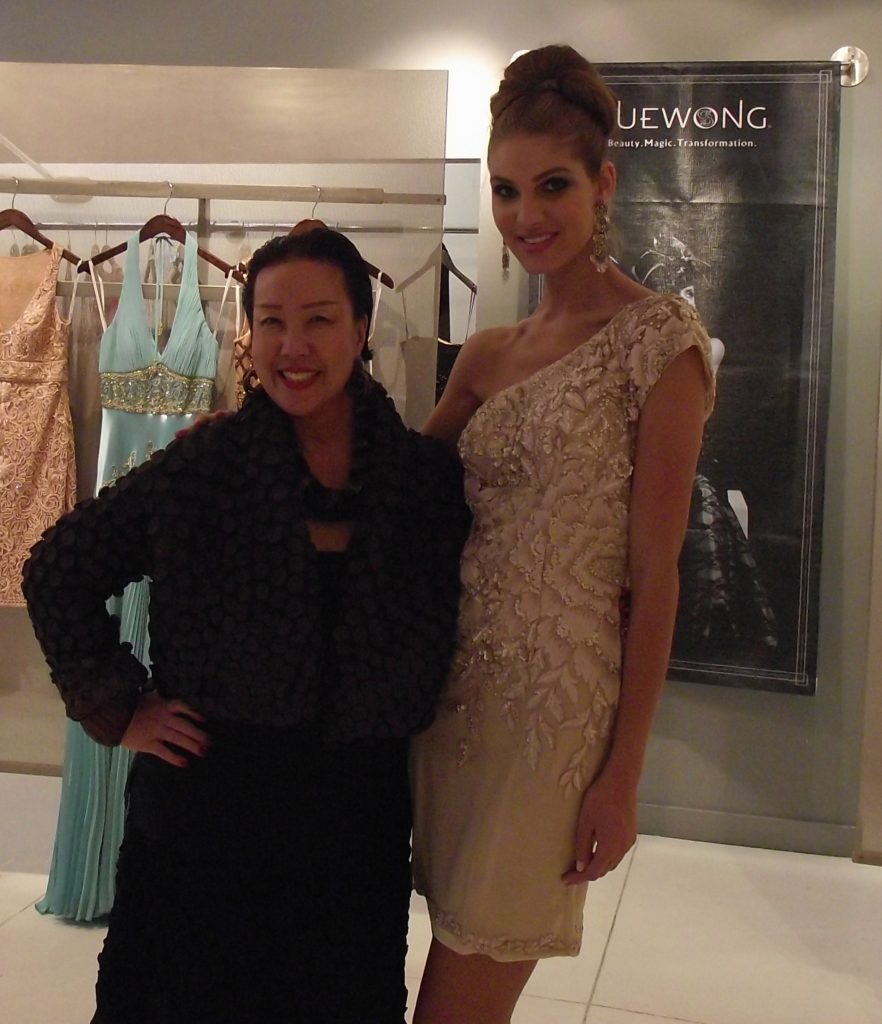 Sue Wong with Model Ashley