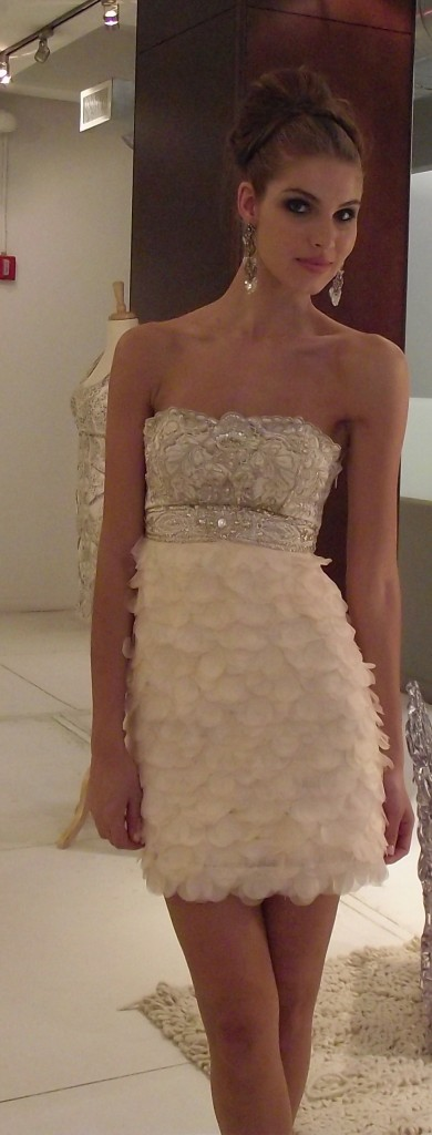 Sue Wong S/S 2011 Short Strapless Ivory Dress