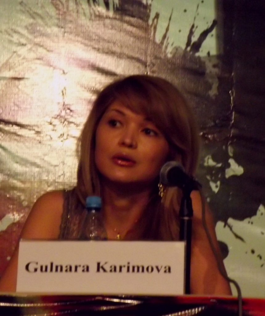 Gulnara Karimova at Style.uz Art Week Press Conference
