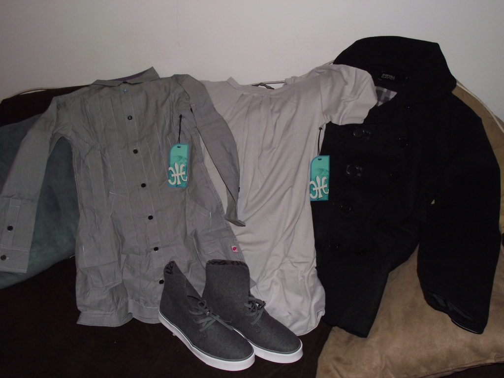 Royal Elastics (from right to left: Monterey Top, Haven Turtledove, Auburn Jacket, Sister Kelly Shoes)
