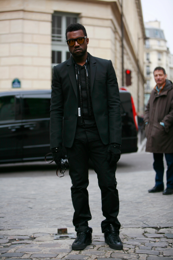 Kanye West in All Black Everything as his brother HOV would say