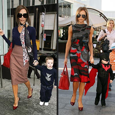 Victoria Beckham with son, Cruz