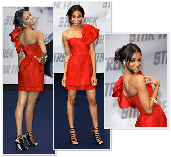 Zoe Saldana on the Red Carpet for Star Trek