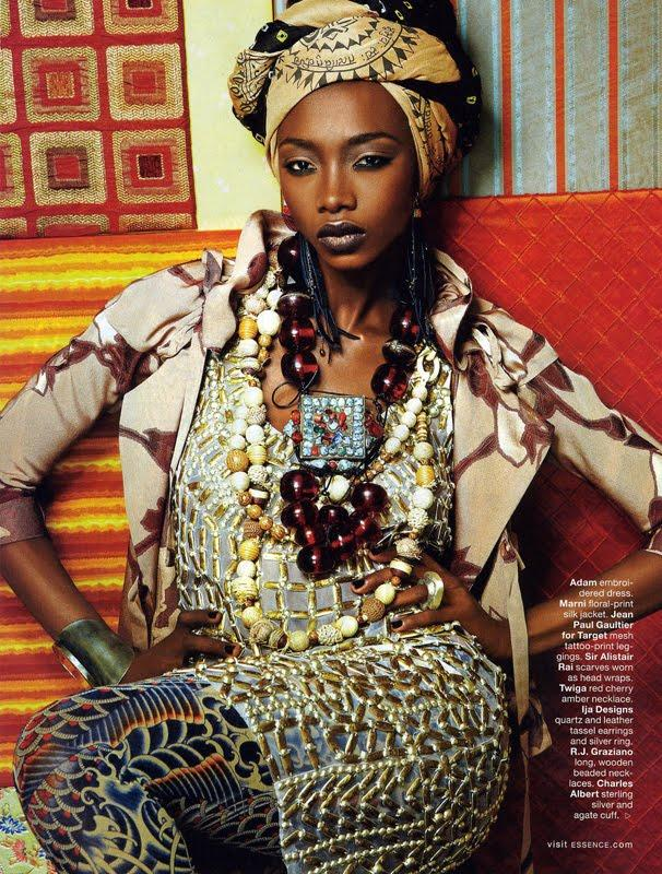 Georgie Badiel for Essence Magazine