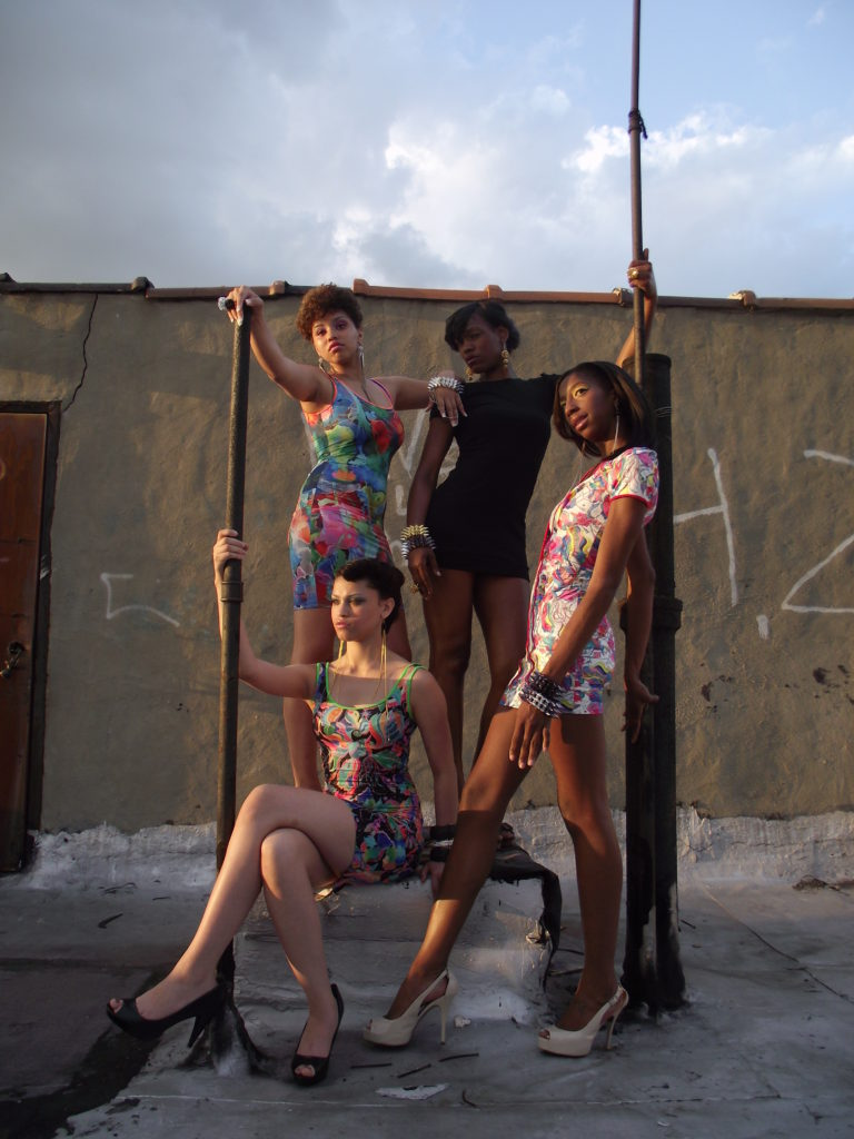 The Network's Models: Ashli Lewis, Jazmin Brown, Rosario de la Cruz, and Kiyauna Kingsberry