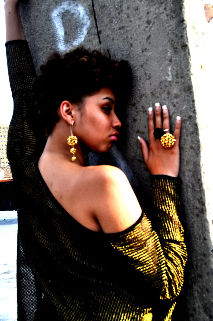 Jazmin Brown in Classy Cloest top and k2o by Karen Ko Jewelry