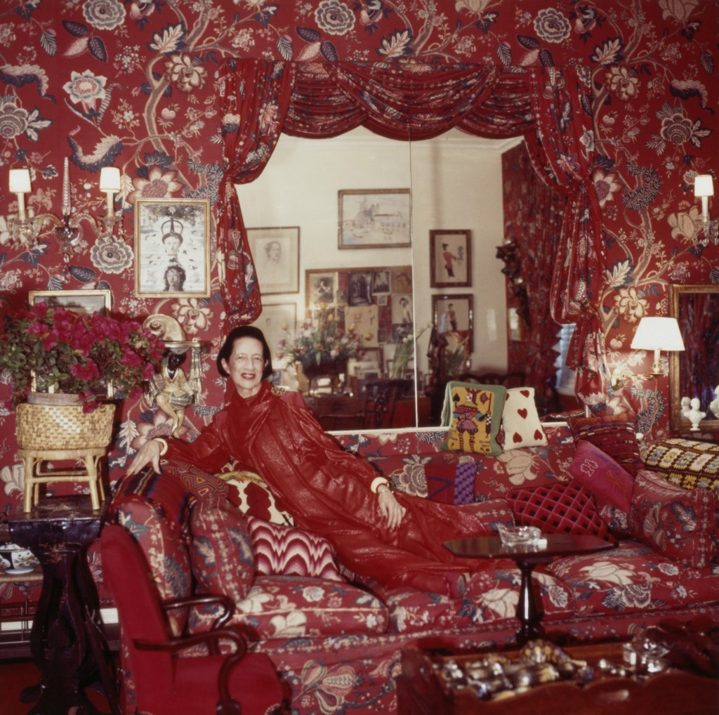 Diana Vreeland in her NYC Apartment which she called
