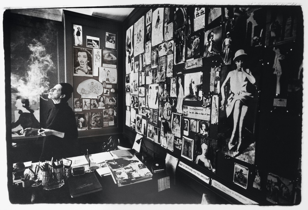 Portrait of Diana Vreeland in Vogue Office; Photograph by James Karales