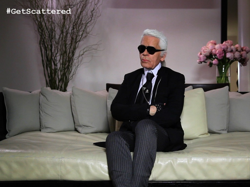 Fashion Designer Karl Lagerfeld in Scatter My Ashes at Bergdorf's