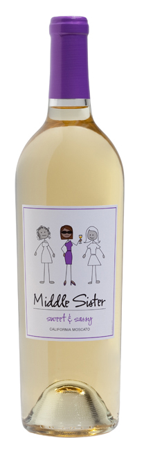 Sweet and Sassy Moscato (Image from MiddleSisterWines.com)