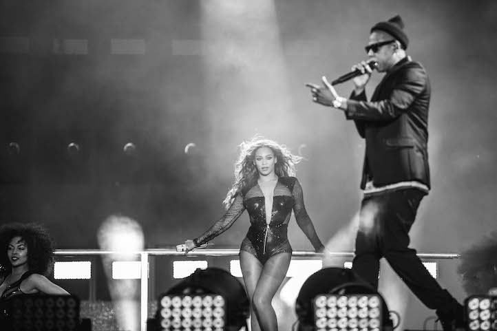 Jay Z and Beyonce` at On The Run Houston (Photo by Rob Hoffman from lifeandtimes.com)